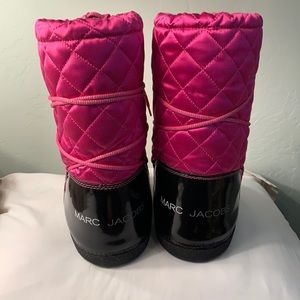 Marc Jacobs Pink Sateen Moon Boots